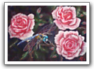 Dragonfly in Roses